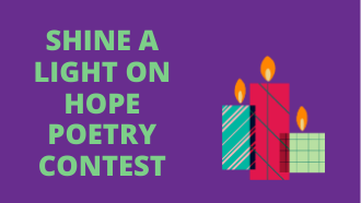 Poetry contest candles with flames